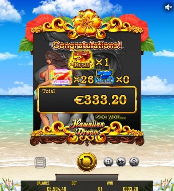 ハワイアン・ドリームの魅力は、少額の賭け金で稼ぎやすいところ!