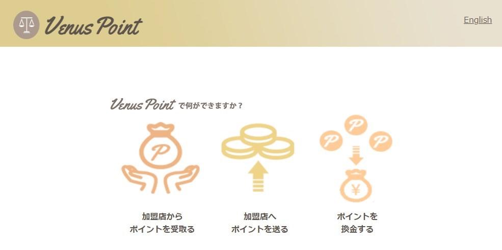 海外電子マネー決済サービス「Venus Point (ヴィーナスポイント)」