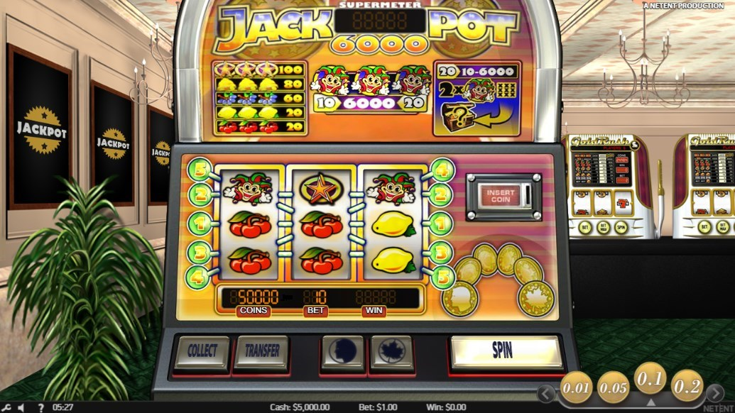 おすすめスロットマシン「Jackpot 6000(ジャックポット6000)」