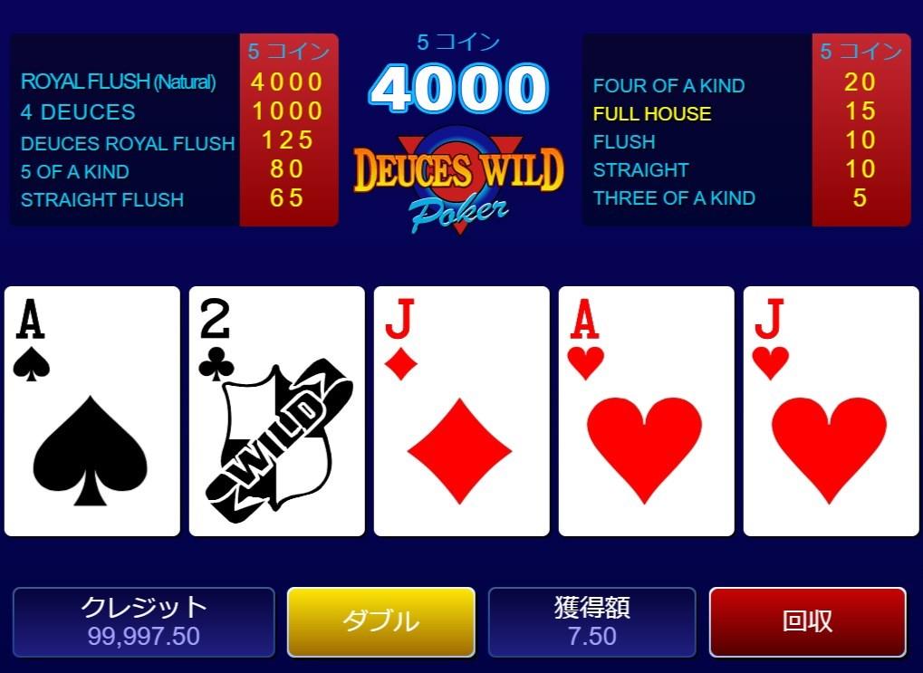 Deuces Wild Poker (デュースズ・ワイルド・ポーカー)