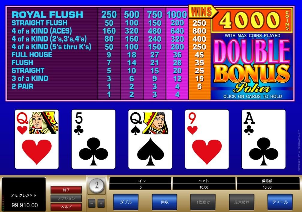 Double Bonus Poker (ダブル・ボーナス・ポーカー)