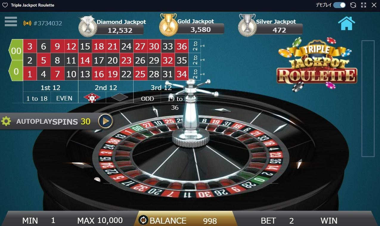 トリプル・ジャックポット・ルーレット(Triple Jackpot Roulette)